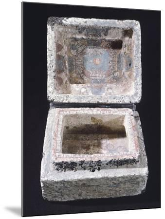 Painted Stone Casket for Offerings from Mexico--Mounted Giclee Print