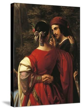 Italy, Treviso, Storytellers of Decameron, Close-Up--Stretched Canvas Print