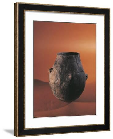 Terracotta Vessel from Alsace--Framed Giclee Print