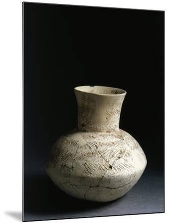 Iraq, Tell Abu Husaini, Vase with Herringbone Pattern Decoration--Mounted Giclee Print