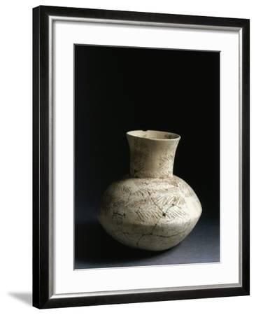 Iraq, Tell Abu Husaini, Vase with Herringbone Pattern Decoration--Framed Giclee Print