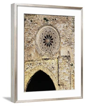 Rose Window from Matrice Church, Erice, Sicily, Italy--Framed Giclee Print