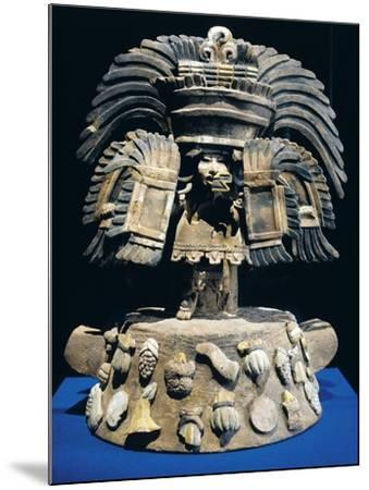 Mexico, Anthropomorphic Brazier with Fruit and Vegetable Base Decorations--Mounted Giclee Print