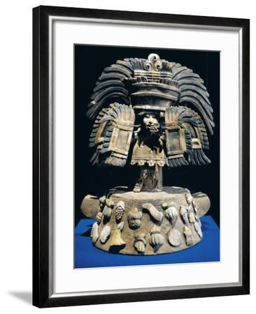 Mexico, Anthropomorphic Brazier with Fruit and Vegetable Base Decorations--Framed Giclee Print