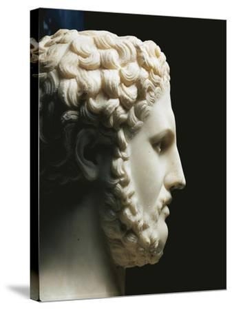 Marble Portrait of Philip II of King of Macedon A.C, Profile--Stretched Canvas Print