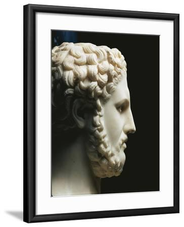 Marble Portrait of Philip II of King of Macedon A.C, Profile--Framed Giclee Print