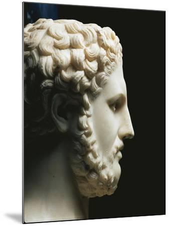 Marble Portrait of Philip II of King of Macedon A.C, Profile--Mounted Giclee Print