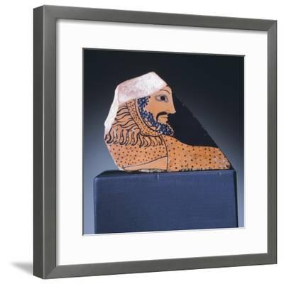 Attic Krater Fragment Showing Hercules's Head, 510-470 BC--Framed Giclee Print