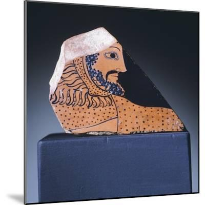Attic Krater Fragment Showing Hercules's Head, 510-470 BC--Mounted Giclee Print