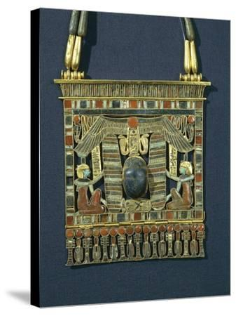 Treasure of Tanis, Breastplate of Psusennes I Made of Gold, Lapis Lazuli and Red Jasper--Stretched Canvas Print