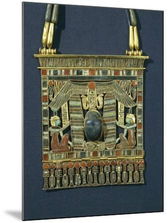 Treasure of Tanis, Breastplate of Psusennes I Made of Gold, Lapis Lazuli and Red Jasper--Mounted Giclee Print
