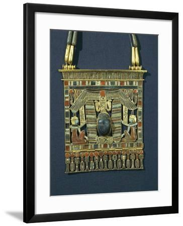Treasure of Tanis, Breastplate of Psusennes I Made of Gold, Lapis Lazuli and Red Jasper--Framed Giclee Print