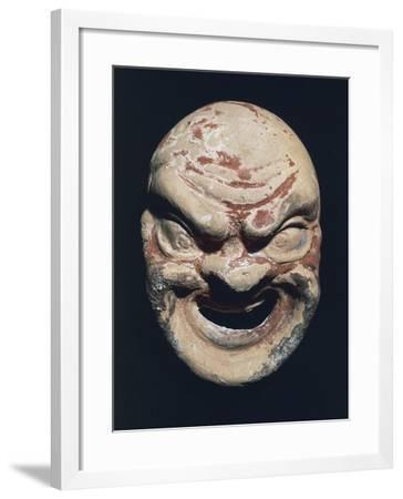 Theatre Mask, Terracotta, 3rd Century BC--Framed Giclee Print
