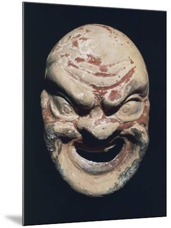 Theatre Mask, Terracotta, 3rd Century BC--Mounted Giclee Print