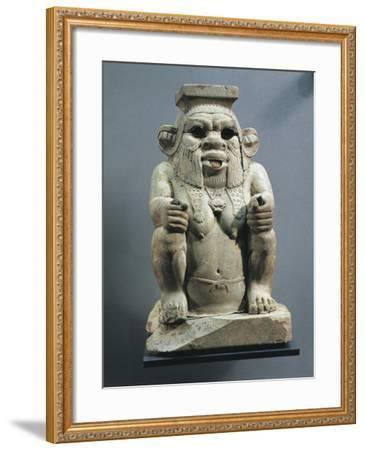 Statue of Bes, Protector of Childbirth and Households, as a Dwarf--Framed Giclee Print