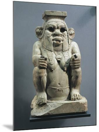 Statue of Bes, Protector of Childbirth and Households, as a Dwarf--Mounted Giclee Print