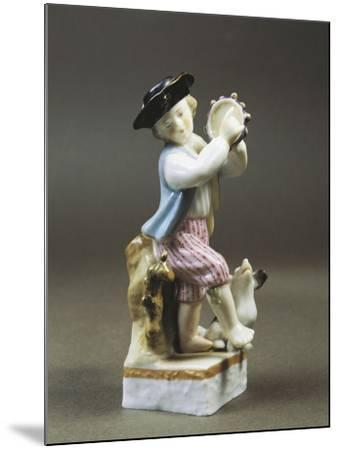 Porcelain Figurine of Young Tambourine Player, Paris Production--Mounted Giclee Print