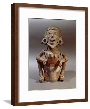Statuette of Macuilxochitl, God of Flowers, Dance and Music, from Mexico--Framed Giclee Print