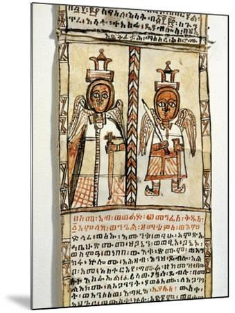 Ethiopia, Two Angels Holding Swords, from Arab Manuscript--Mounted Giclee Print