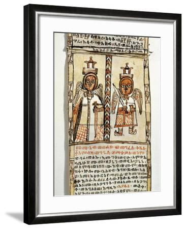Ethiopia, Two Angels Holding Swords, from Arab Manuscript--Framed Giclee Print