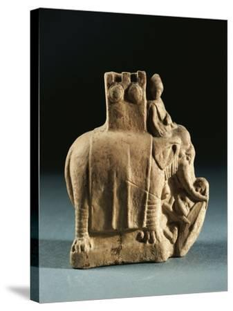 Greece, Mirina, Statuette Representing an Elephant Used for Struggles, Terracotta--Stretched Canvas Print