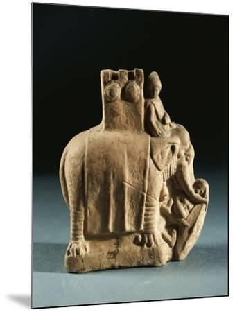 Greece, Mirina, Statuette Representing an Elephant Used for Struggles, Terracotta--Mounted Giclee Print