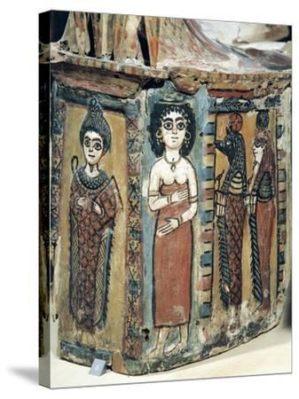 Plastron of Coffin Depicting Isis Figure--Stretched Canvas Print