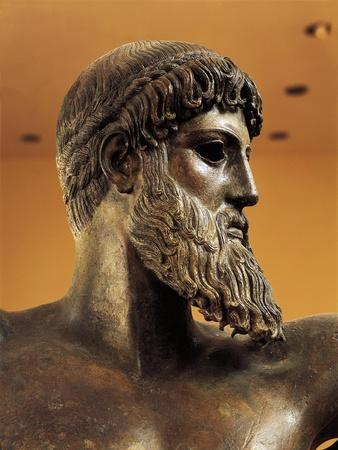 Bronze Statue of Poseidon from Cape Artemision--Framed Giclee Print