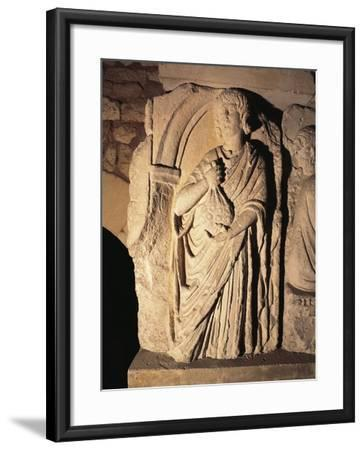 Roman Civilization, Relief Portraying Paying of Taxes, from Saintes, France--Framed Giclee Print