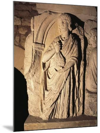 Roman Civilization, Relief Portraying Paying of Taxes, from Saintes, France--Mounted Giclee Print