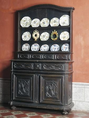 Piedmont Welsh Dresser with Upper Section for Crockery, Italy, Mid-18th Century--Framed Giclee Print