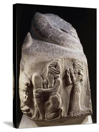 Votive Stone Representing Puzur, Prince of Susa, Viceroy of Elam, 2200 B.C.--Stretched Canvas Print