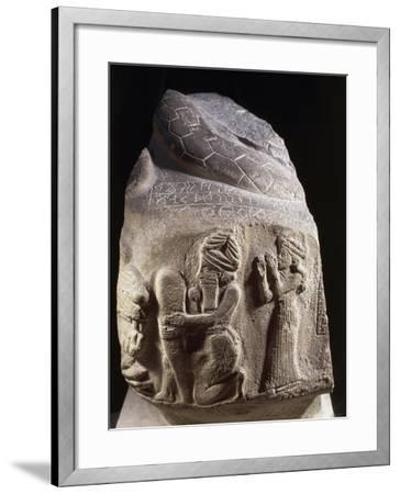 Votive Stone Representing Puzur, Prince of Susa, Viceroy of Elam, 2200 B.C.--Framed Giclee Print