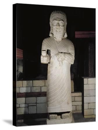 Turkey, Malatya, Monumental Statue Representing King Tarhunza of Milid, Limestone--Stretched Canvas Print