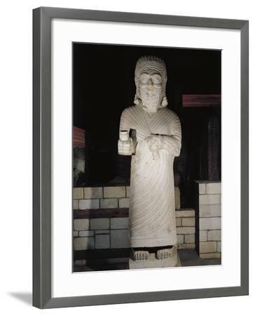 Turkey, Malatya, Monumental Statue Representing King Tarhunza of Milid, Limestone--Framed Giclee Print