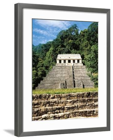 Mexico, Chiapas, Palenque, Temple of Inscriptions at Mayan Archaeological Site--Framed Giclee Print