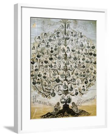 Family Tree of the Imperial Dynasty of the Habsburgs--Framed Giclee Print