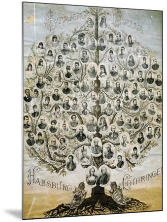 Family Tree of the Imperial Dynasty of the Habsburgs--Mounted Giclee Print