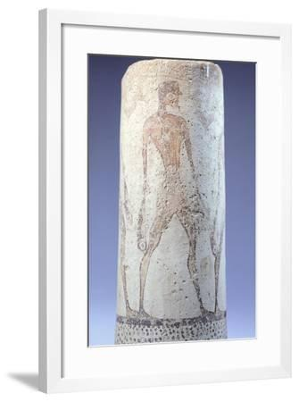 Vase Decorated with Figure of Fisherman, Detail, Cycladic Civilization, 3500-1050 Bc--Framed Giclee Print