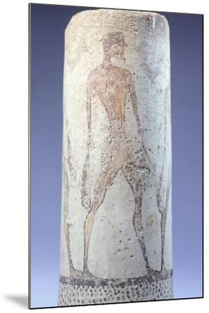Vase Decorated with Figure of Fisherman, Detail, Cycladic Civilization, 3500-1050 Bc--Mounted Giclee Print