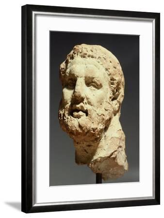 Head of Hercules, Sculpture from Kherson, Ukraine, 3rd-2nd Century BC--Framed Giclee Print