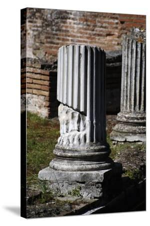 Hadrian's Villa. Column of Maritime Theatre. Italy--Stretched Canvas Print
