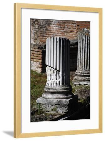 Hadrian's Villa. Column of Maritime Theatre. Italy--Framed Giclee Print
