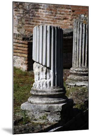 Hadrian's Villa. Column of Maritime Theatre. Italy--Mounted Giclee Print