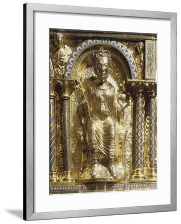 16th Century Charlemagne Shrine in Gold, Precious Stones and Enamels--Framed Giclee Print