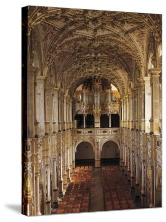 Interior of Church with 1610 Choir and Organ, Frederiksborg Castle, Hillerod, Denmark--Stretched Canvas Print