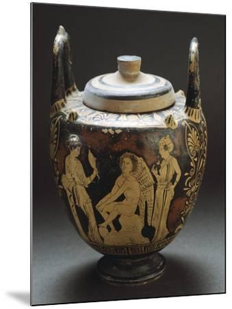 Pyx Representing Eros in Mirror, Red-Figure Pottery from Workshop of Taranto, Apulia, Italy BC--Mounted Giclee Print