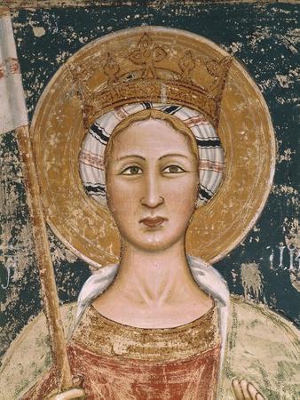 Saint, Detail of Fresco, Basilica of Santa Caterina D'Alessandria, Galatina, Apulia, Italy--Framed Giclee Print