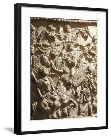 Roman Civilization, Plaster Cast of Trajan's Column, Mauritanian Horsemen--Framed Giclee Print
