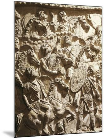 Roman Civilization, Plaster Cast of Trajan's Column, Mauritanian Horsemen--Mounted Giclee Print